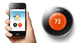 The Nest thermostat and app.