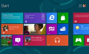 Flat design in the Windows 8 OS.