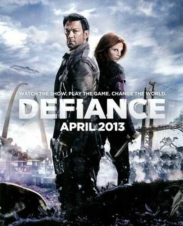 Defiance is a transmedia tv show and computer game by the Scify Channel.