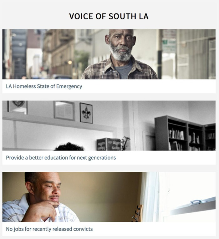 Voice of South L.A. by Ellie Hoshizaki, Philipe Navarro, Kendrick Parks, and Poy Yeung.